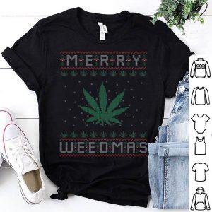Premium Merry Weedmas Weed Bong Cannabis Leaf Ugly Christmas sweater