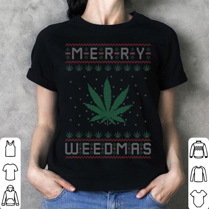 Premium Merry Weedmas Weed Bong Cannabis Leaf Ugly Christmas sweater, hoodie, sweater, longsleeve t shirt