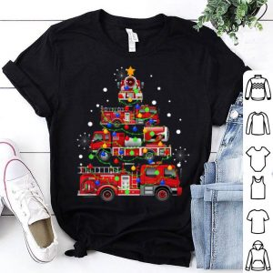 Pretty Funny Christmas Decor Firefighter Truck Christmas Tree Gifts sweater