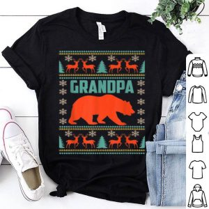 Pretty Grandpa Bear Christmas Matching Family Ugly Plaid Gift sweater