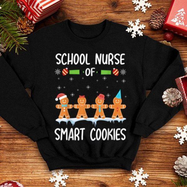 Pretty School Nurse Of Smart Cookies Gingerbreads Merry Christmas sweater