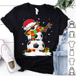 Top Dabbing Snowman Soccer Christmas Funny Dab Ball Gift sweater