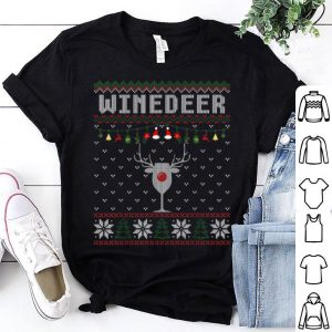 Winedeer Reindeer Funny Wine Bottle Christmas Ugly Sweater sweater