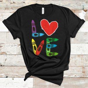 Awesome Preschool Teacher Valentines Day Love shirt
