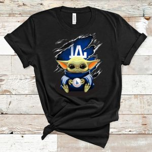 Hot Star Wars Baby Yoda Blood Inside Los Angeles Dodgers shirt