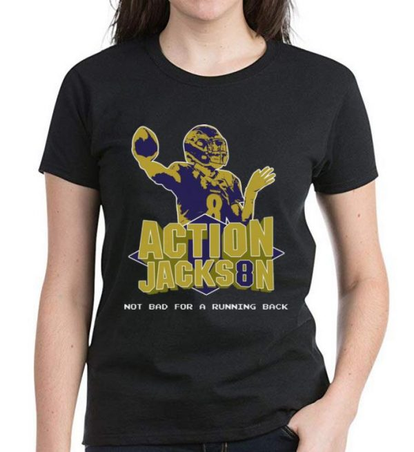 Nice Action Jackson Not Bad For A Running Back shirt