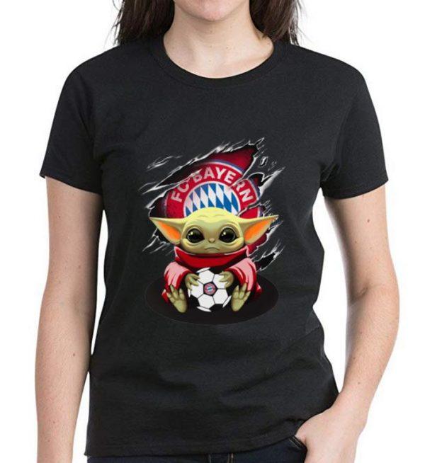 Official Star Wars Baby Yoda Blood Inside Bayern München shirt