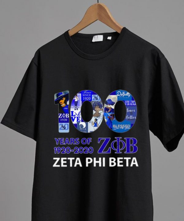 Original 100 Years Of Zeta Phi Beta 1920-2020 shirt