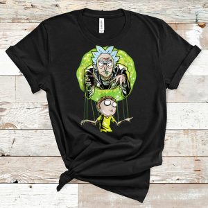 Original Rick And Morty Puppet And Space Portal shirt