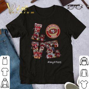 Premium Love San Francisco 49ers my49ers signatures shirt