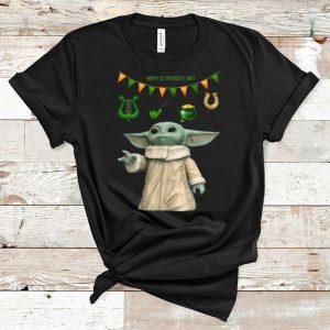 Premium Star Wars Baby Yoda St Patrick's Day shirt