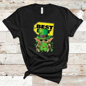 Awesome Baby Yoda Best Buy Shamrock St.Patrick's Day shirt