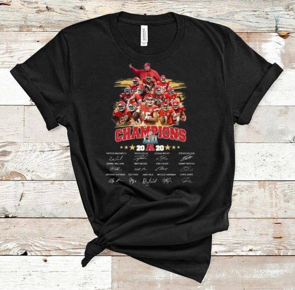 Awesome Kansas City Chiefs Patrick Mahomes Champions Signatures shirt
