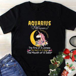 Cool Unicorn aquarius woman the soul of a unicorn the fire of a lioness shirt