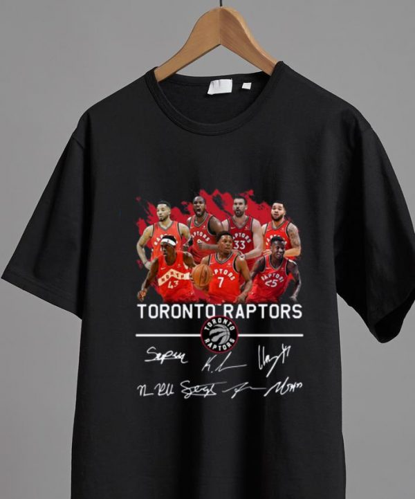Hot Toronto Raptors Players Signatures shirt