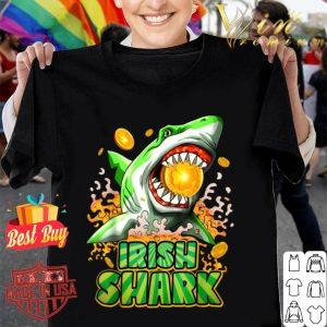 Irish Shark St Patricks Day Women Men Kids Boys Gift Tee shirt