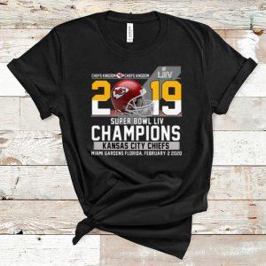 Nice 2019 Super Bowl LIV Champions Kansas City Chiefs Miami Gardens Florida February 2 2020 shirt
