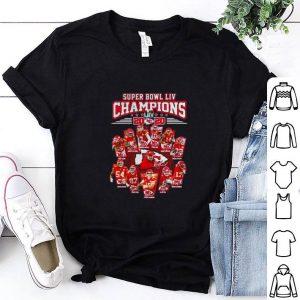 Nice Super Bowl LIV Champions 2020 Kansas City Chiefs signatures shirt