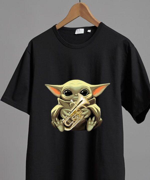 Official Baby Yoda Hug Euphonium shirt