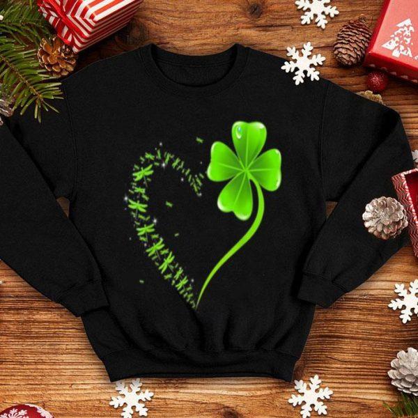 Official Dragonfly Heart Irish, Shamrock Heart Clover St. Patrick Day shirt