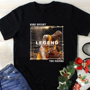 Official Kobe Bryant Legend thank you for the memories signed The Mamba shirt