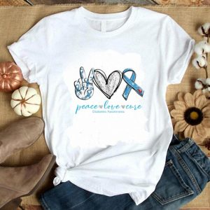 Official peace love cure Diabetes awareness shirt