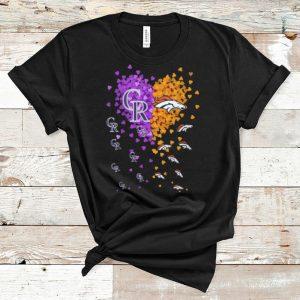 Premium Heart Colorado Rockies And Denver Broncos shirt