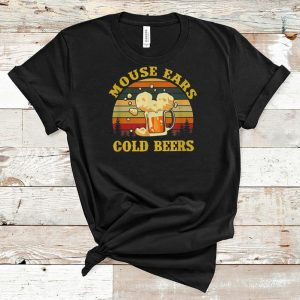 Premium Mouse Ears Cold Beers Drinking Vintage shirt