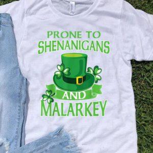 Premium St Patricks Day Funny Shenanigans And Melarkey Irish shirt