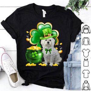 Pretty Maltese Dog Shamrock St Patricks Day Dog Irish Gift shirt