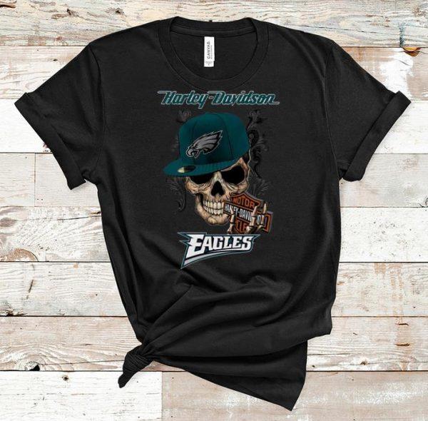 Pretty Motor Harley Davidson Cycles Philadelphia Eagles shirt