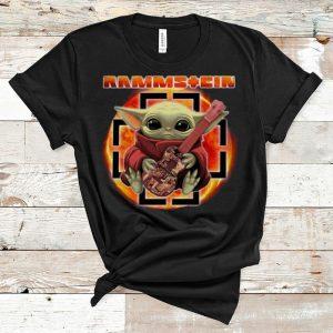 Pretty Star Wars Baby Yoda Hug Guitar Rammstein shirt