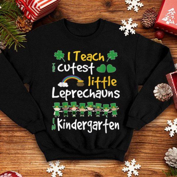 Top Leprechaun St Patricks Day Kindergarten Teacher Long Sleeve shirt