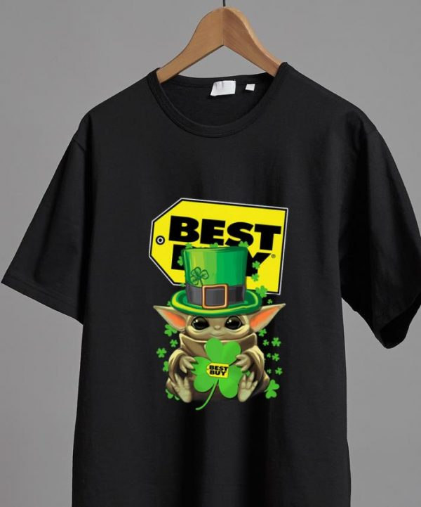 Top Star Wars Baby Yoda Best Buy Shamrock St.Patrick's Day shirt