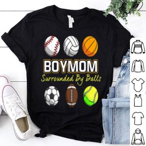Awesome Boy Mom Surrounded By Balls Gifts Mother's Day shirt