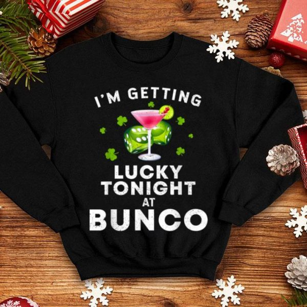 Awesome Funny Bunco St. Patrick's Day I'm Getting Lucky Game shirt