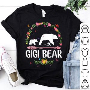 Beautiful Gigi Bear Flowers Matching Family Bear Mothers Day Gift shirt