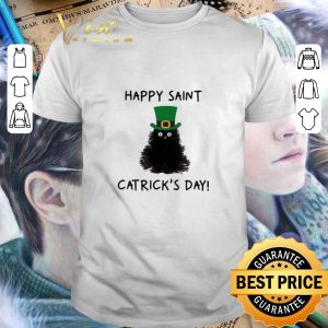 Cool Black cat happy Saint Catrick's Day St. Patrick's day shirt