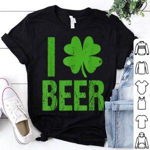 Nice I Love Beer Four Leaf Clover St. Patrick shirt