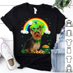 Nice St Patricks Day Yorkie Shamrock Pet Dog Lover shirt