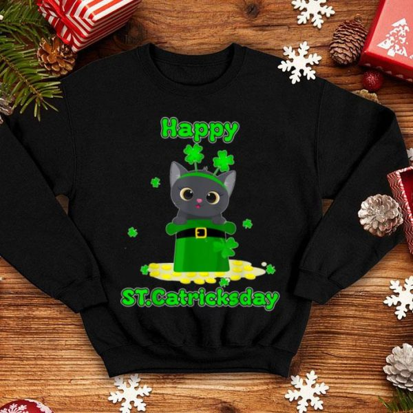 Official Happy St.catrick's Patrick's Day Cat Lover Shamrock shirt