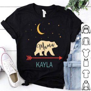 Official Kayla Name Gift Personalized Retro Mama Bear shirt