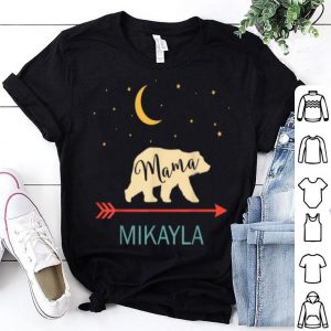 Official Mikayla Name Gift Personalized Retro Mama Bear shirt