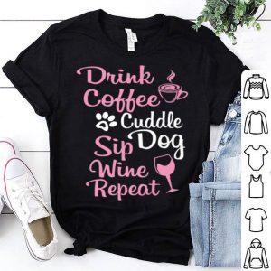 Original Funny Coffee Wine Lover Tee For Dog Moms.fur Mama Gift shirt