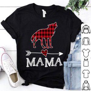 Original Womens Red Plaid Mama Wolf Dog Dog Mom Buffalo Pajama shirt