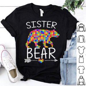 Premium Mama Bear Autism Awareness Love Support Sister shirt