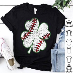 Top Baseball St Patricks Day Boys Men Catcher Pitcher Shamrock shirt