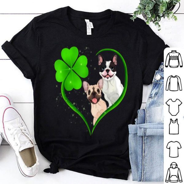 Top French Bulldog Heart Shamrock Funny St Patrick's Day shirt
