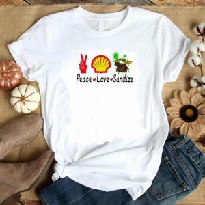 Premium Baby Yoda peace love and Sanitize shirt