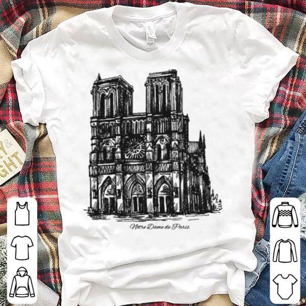 Pray For NotreDame Cathedral Paris shirt